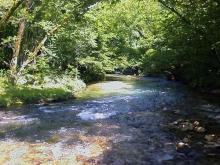 Tratto di fiume nell'Alto Aniene