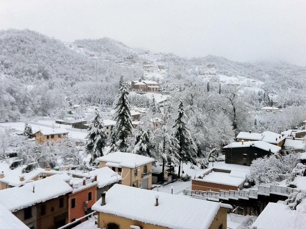 nevicata a Subiaco del 04-02-2012