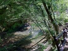 Risalendo verso il laghetto di San Benedetto